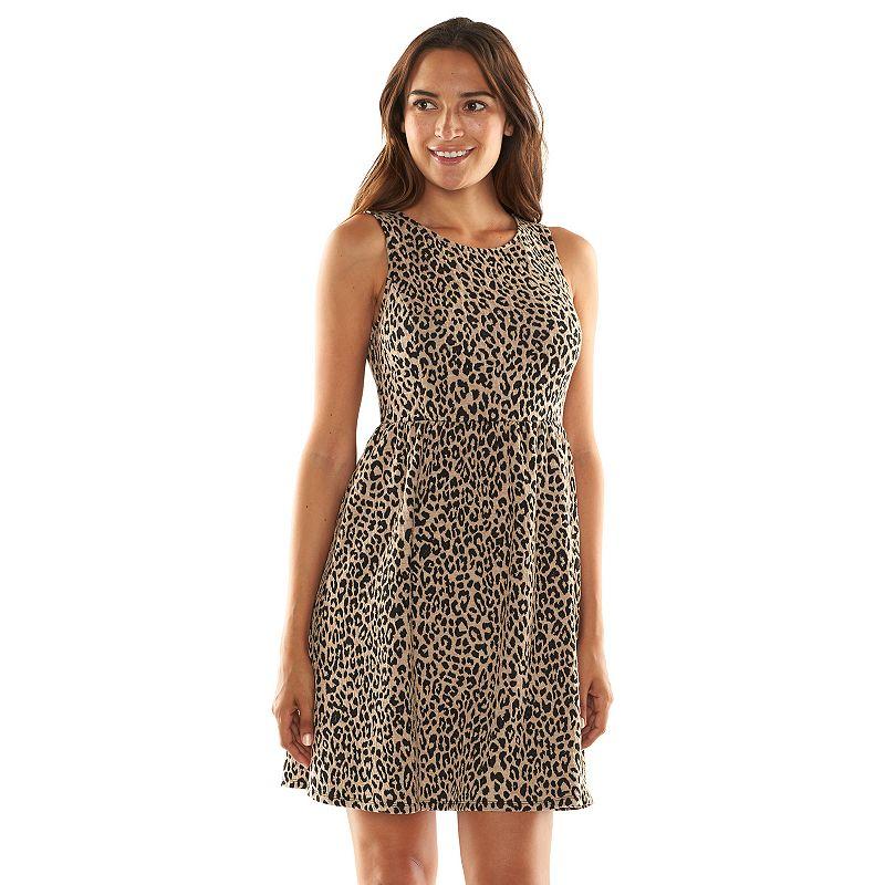 Apt. 9® Animal Textured Fit & Flare Dress - Women's