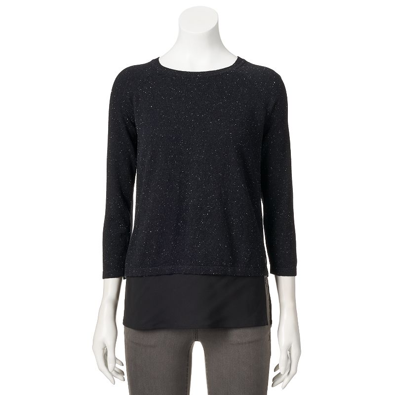 Women's Apt. 9® Raglan Mock-Layer Sweater