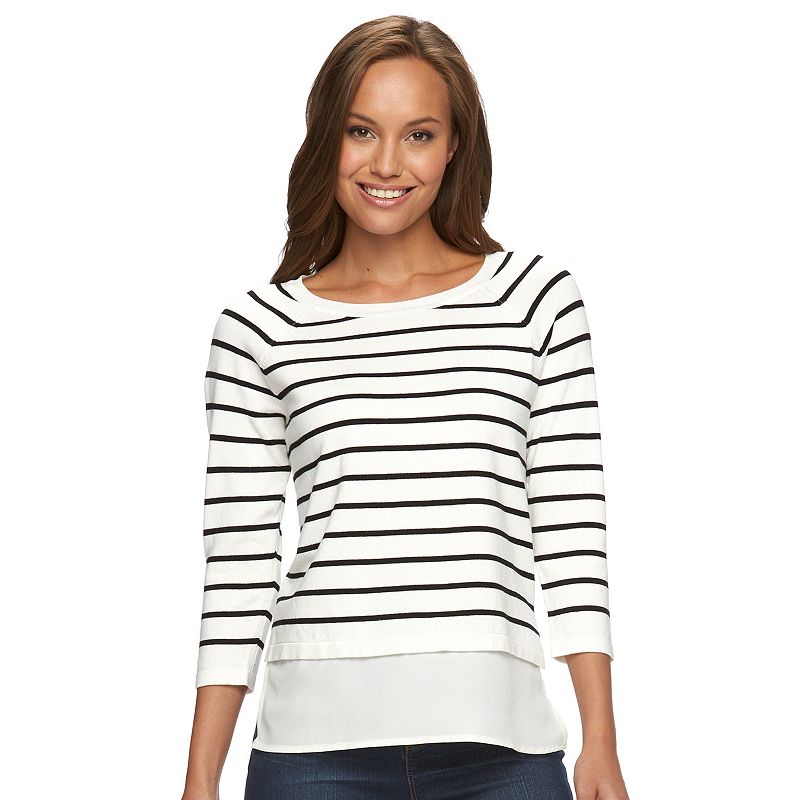 Women's Apt. 9® Raglan Mock-Layer Sweater