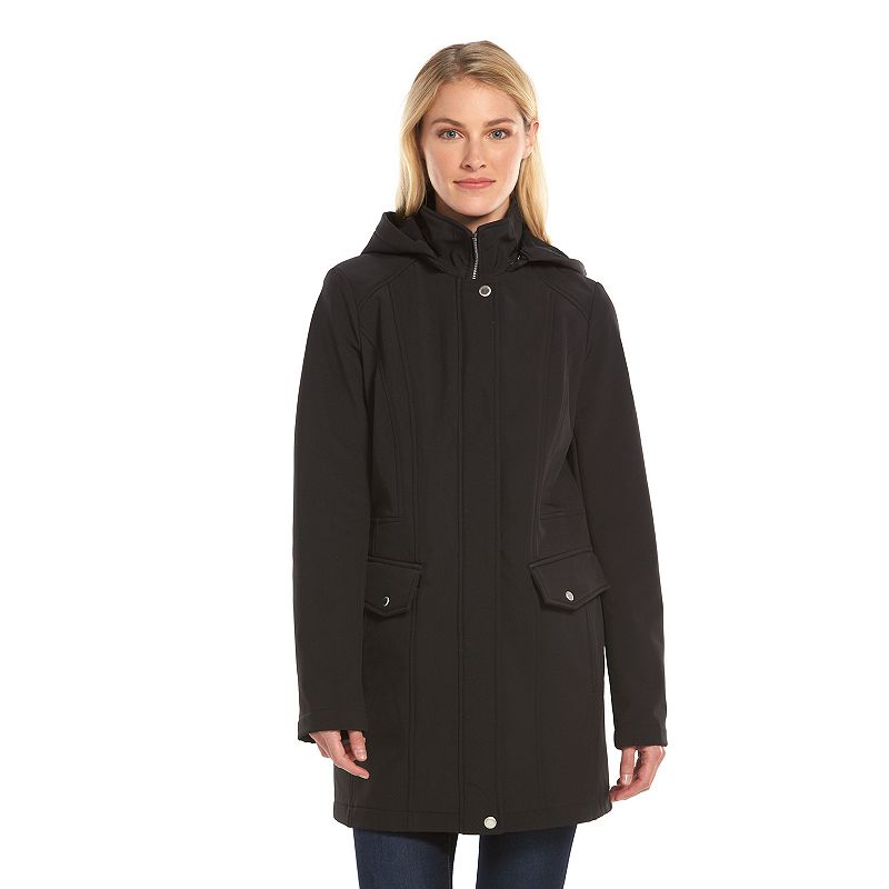 Women's AM Studio by Andrew Marc Hooded Soft Shell Jacket