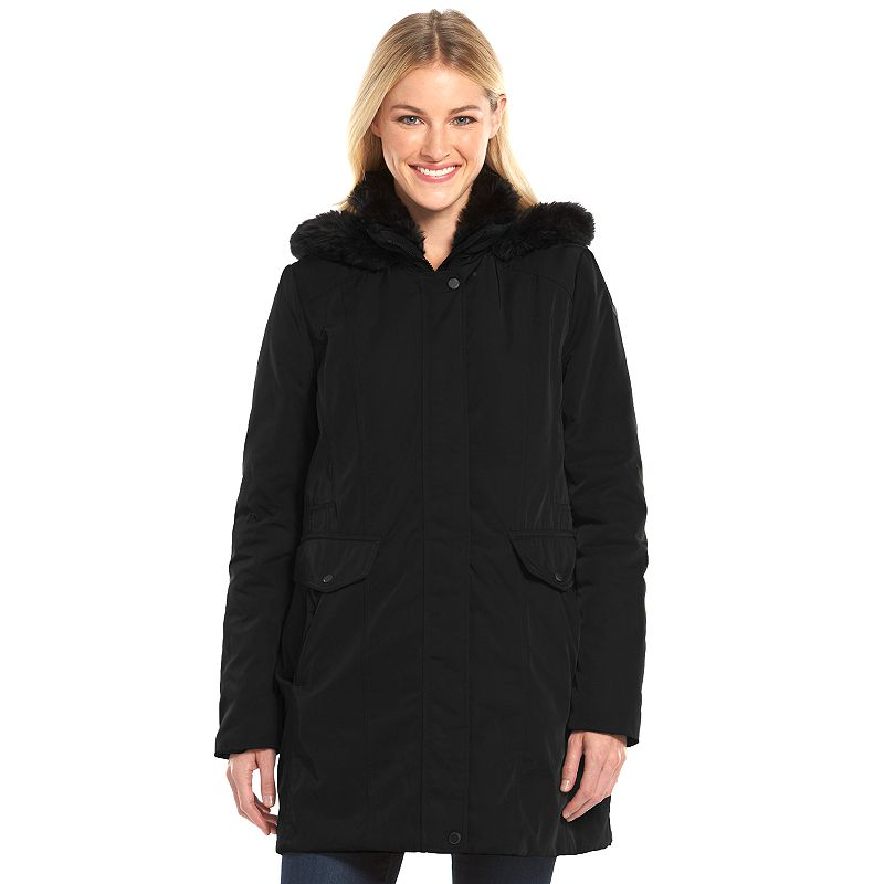 Women's AM Studio by Andrew Marc Hooded Rain Jacket