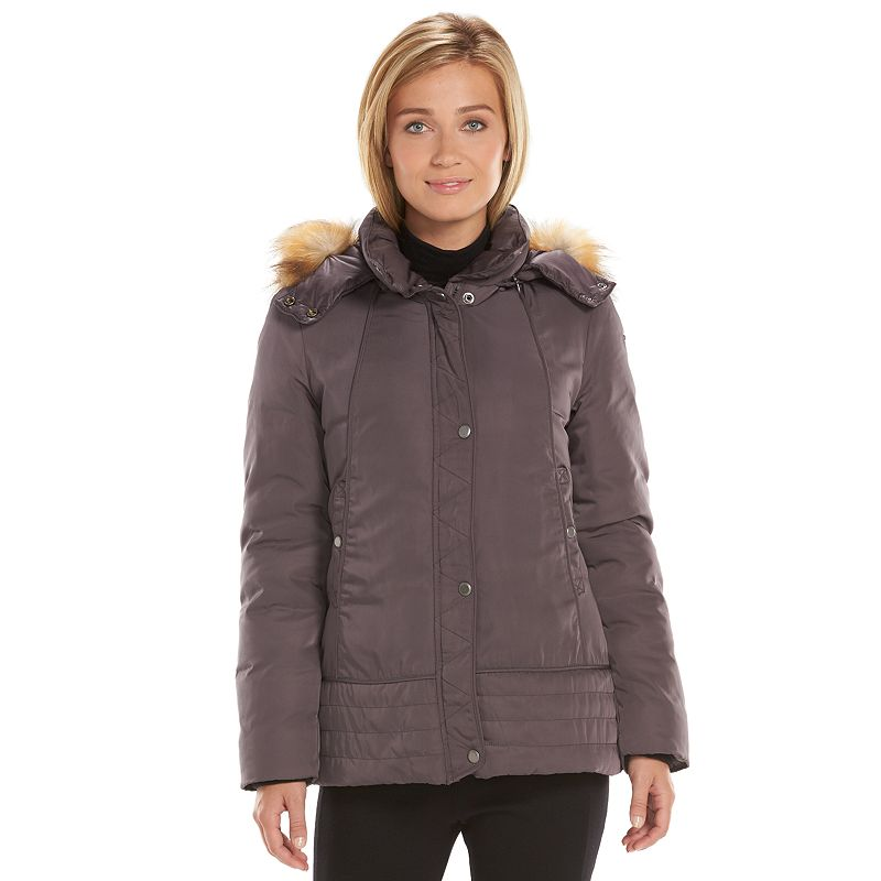 Women's AM Studio by Andrew Marc Utility Down Hooded Puffer Jacket