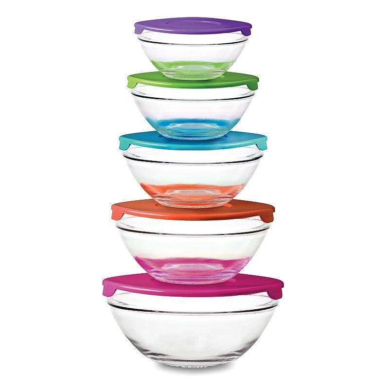 Pkp premier kitchen products pc glass bowl set dealtrend