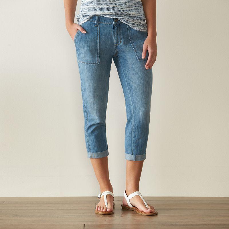 Women's SONOMA Goods for Life™ Boyfriend Capri Jeans