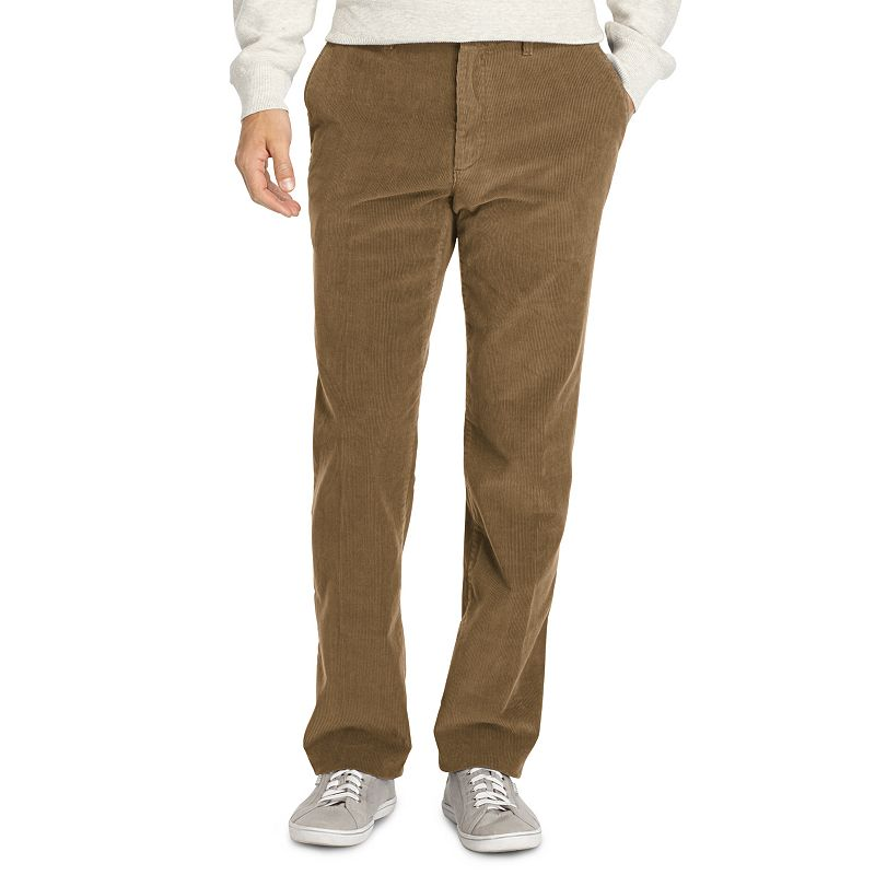 Men's IZOD Weekend Corduroy Straight-Fit Wrinkle-Free Flat-Front Pants