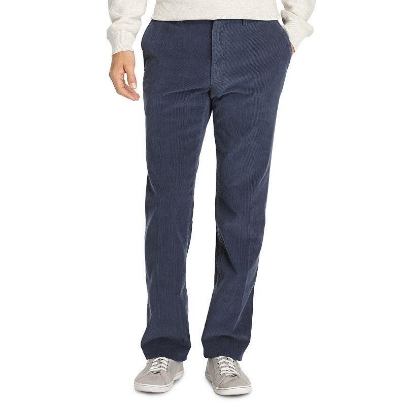 Men's IZOD Weekend Corduroy Straight-Fit Wrinkle-Free Flat-Front Pants