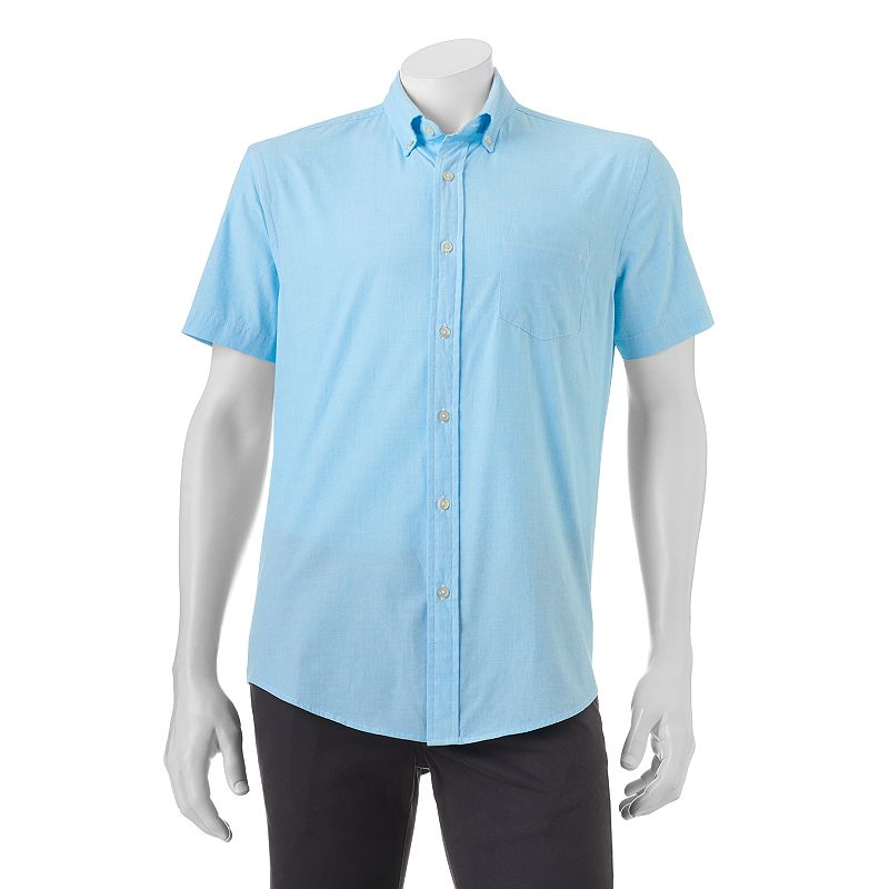 Men's SONOMA Goods for Life™ Solid End-On-End Button-Down Shirt