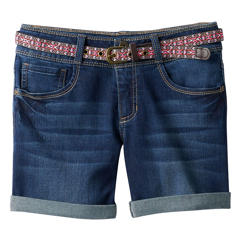 Girls 7-16 & Plus Size Mudd® Cuffed Shorts