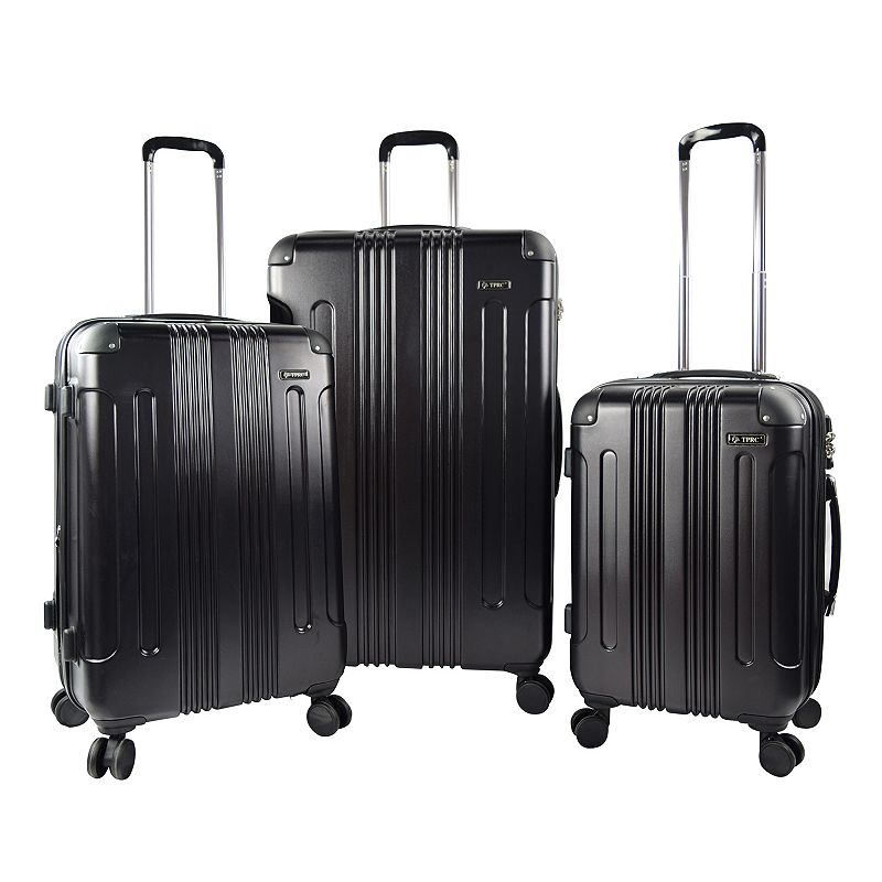 Travelers Club Luggage 3-piece Expandable Double-Spinner Luggage Set