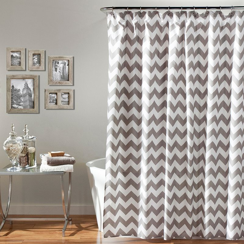 Lush Decor Chevron Shower Curtain