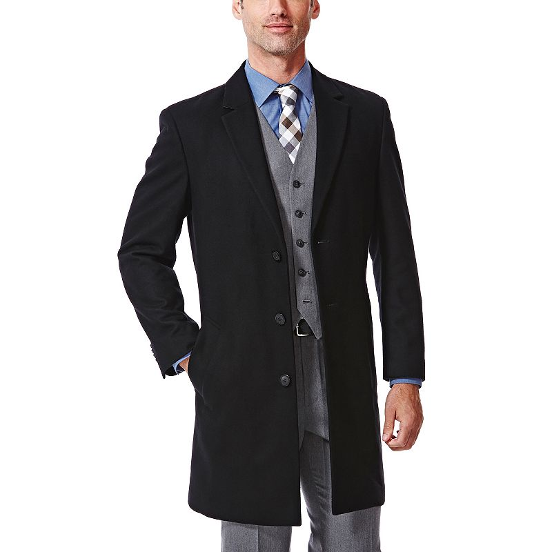 Big & Tall Haggar® Modern-Fit Melton Wool-Blend Coat