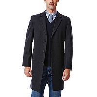 Big & Tall Haggar® Classic-Fit Melton Wool-Blend Coat
