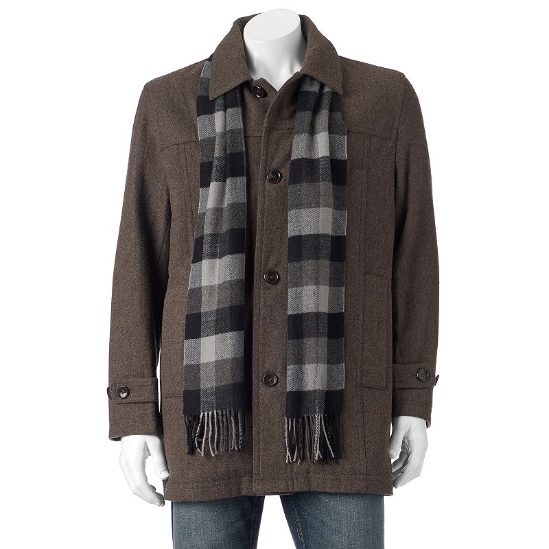 Big & Tall Towne Wool-Blend Top Coat