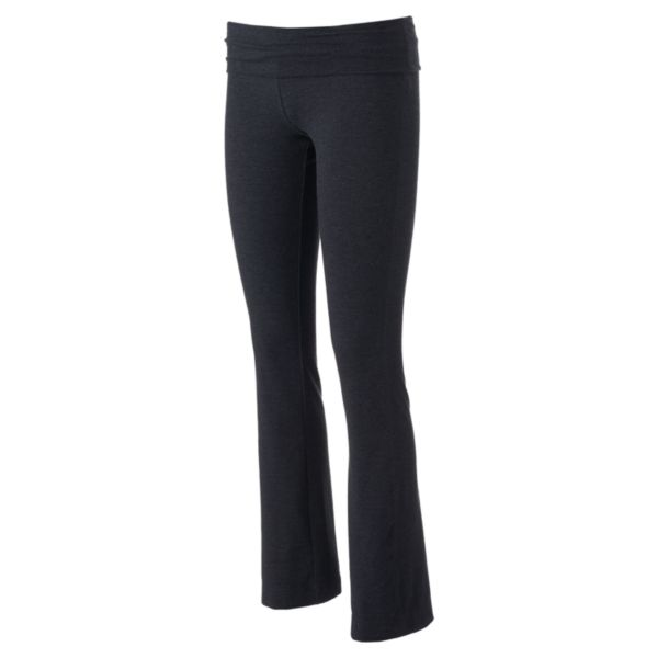 Juniors' SO® Solid Fold Over Skinny Bootcut Yoga Pants