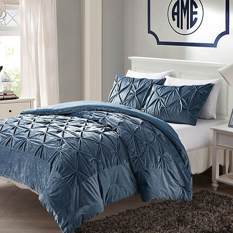 VCNY Hamilton Fleece Down-Alternative 3-pc. Comforter Set