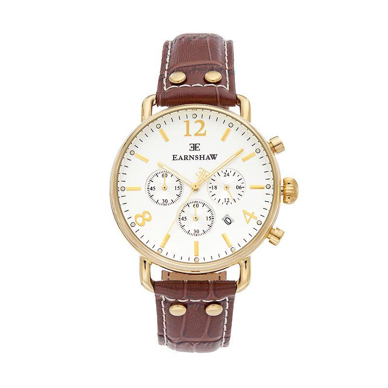 Thomas Earnshaw Men's Investigator Leather Chronograph Watch - ES-8001-02
