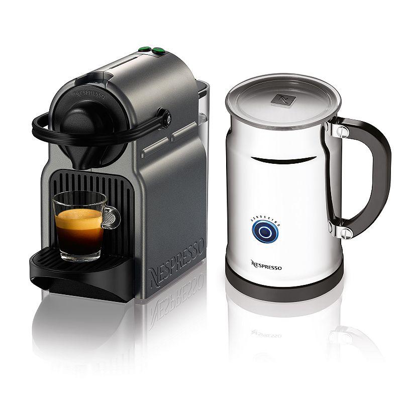 Nespresso Inissia Titan Espresso Machine & Aeroccino+ Milk Frother