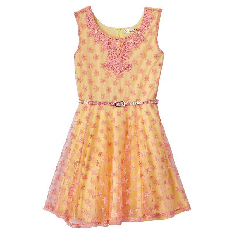 Girls 7-16 Knitworks Lace Skater Dress
