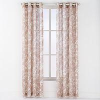 Arlee 2-pk. Asha Linen Leaf Print Grommet Curtains - 84'' x 54''