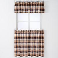 Arlee 3-pc. Nottingham Plaid Woven Rod Pocket Curtain and Valance Set