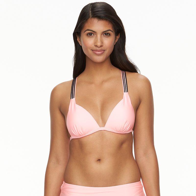Juniors' SO® X-Back Push-Up Bikini Top