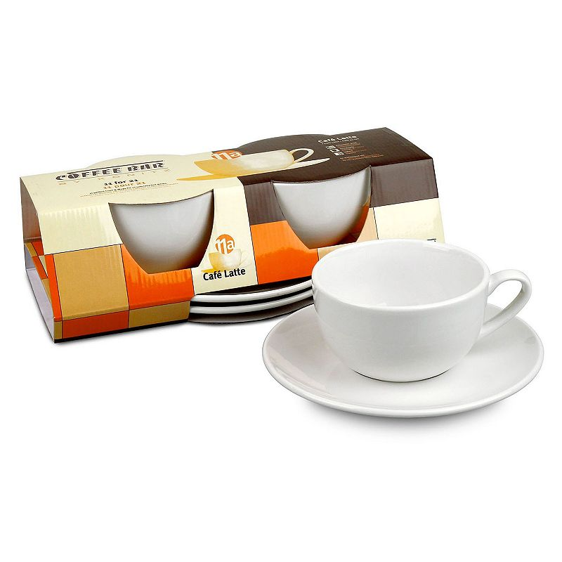 Konitz Coffee Bar 4-pc. Mug & Saucer Set