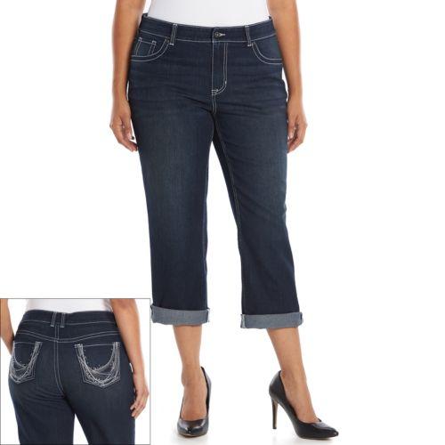 Plus Size Apt. 9® Embellished Jean Capris
