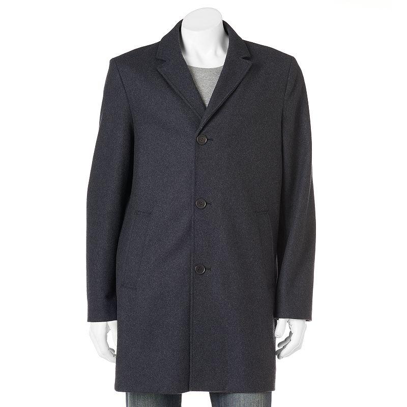 Big & Tall Dockers Wool-Blend Herringbone Top Coat
