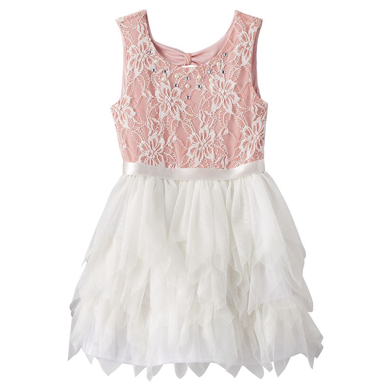Girls 7-16 Knitworks Lace & Tulle Dress
