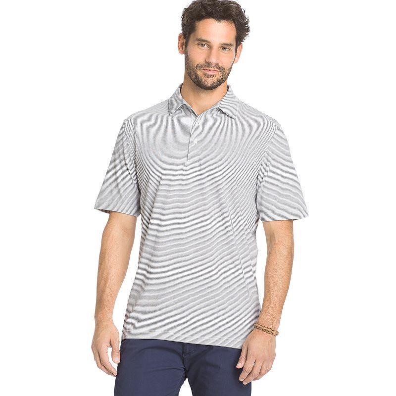 Men's Arrow Classic-Fit Striped Self-Collar Polo