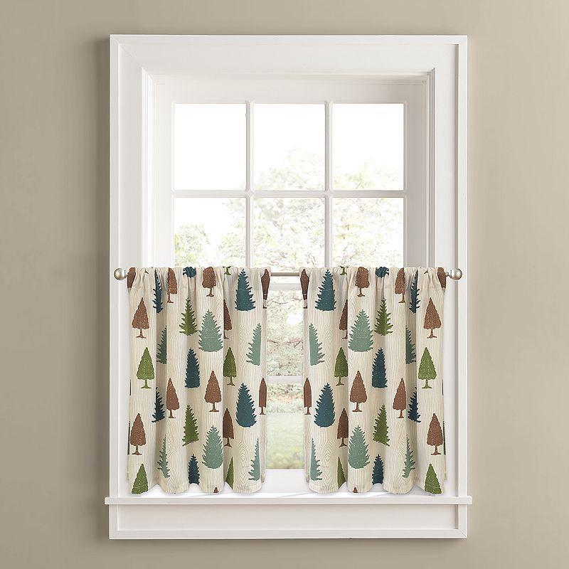 Colordrift Forest Pine 2-pk. Tier Curtains