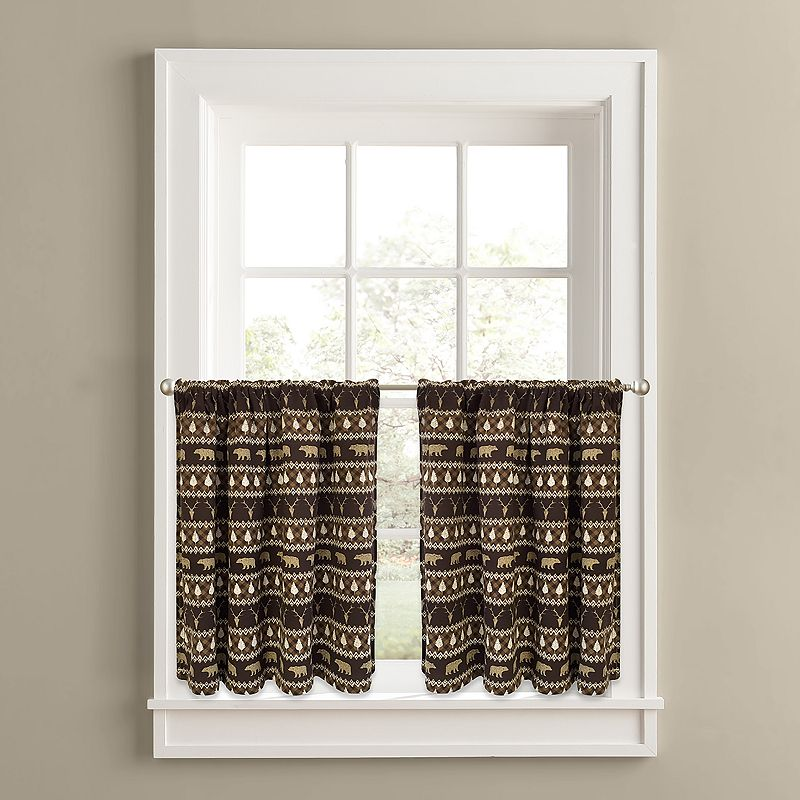 Colordrift Forest Friends 2-pk. Tier Curtains