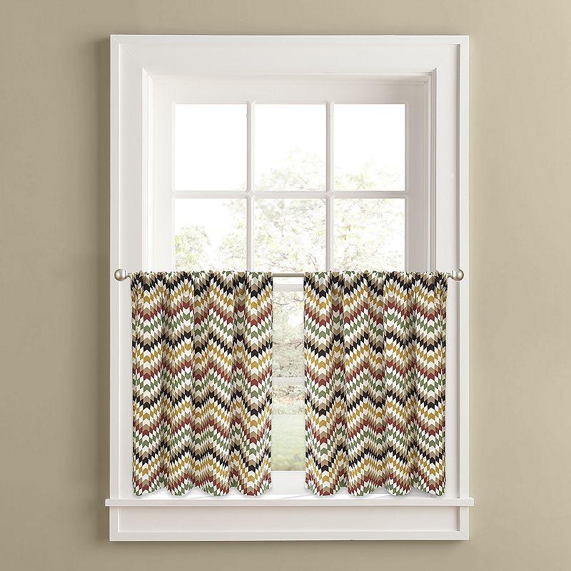 Colordrift Chevron Quilt 2-pk. Tier Curtains