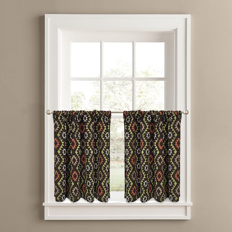 Colordrift Rustic River 2-pk. Tier Curtains