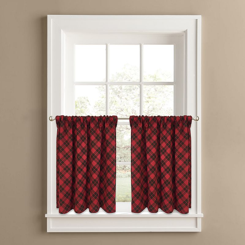 Colordrift Ranger Plaid 2-pk. Tier Curtains