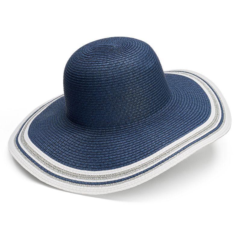 Croft & Barrow® Women's Striped Edge Floppy Hat