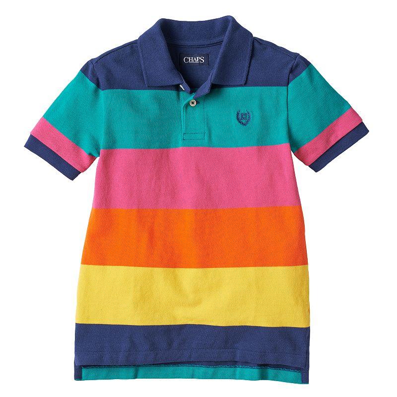 Toddler Boy Chaps Striped Pique Polo