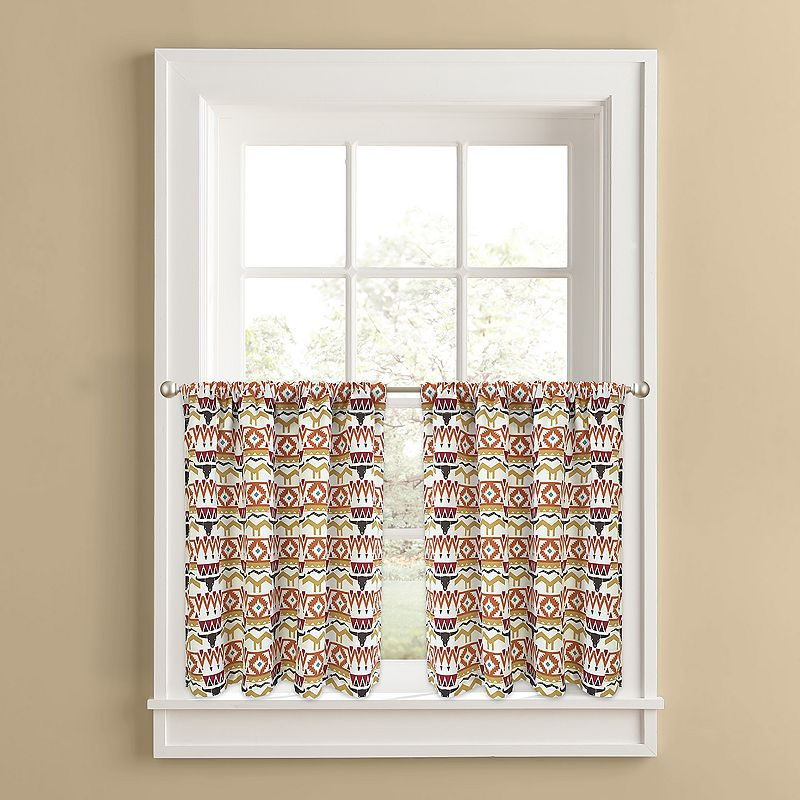 Colordrift Ranchero 2-pk. Tier Curtains