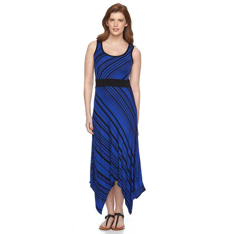 Petite Apt. 9® Striped Shark-Bite Maxi Dress