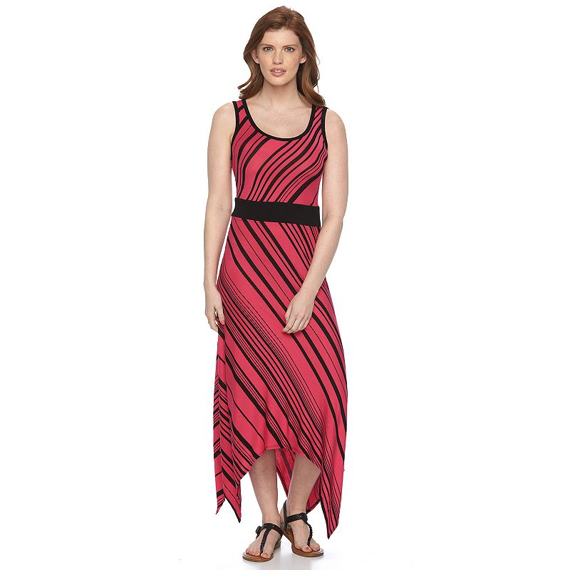 Petite Apt. 9® Striped Shark-Bite Maxi Dress