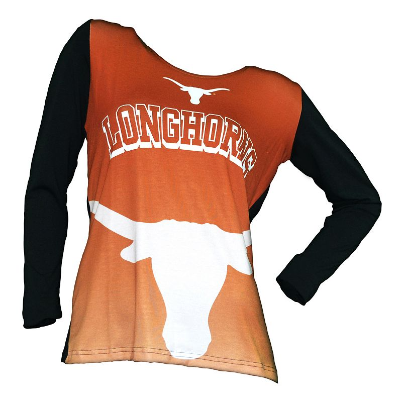 College Concepts Texas Longhorns Cameo Hooded Top - Women's