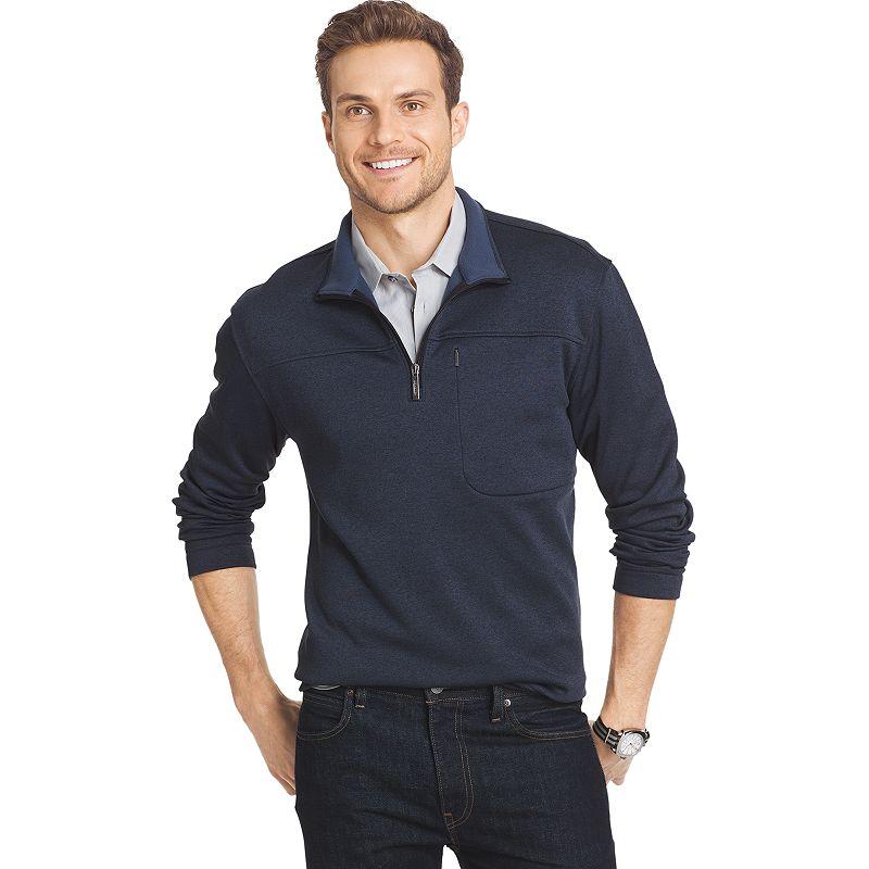 Men's Van Heusen Classic-Fit Traveler Quarter-Zip Performance Pullover