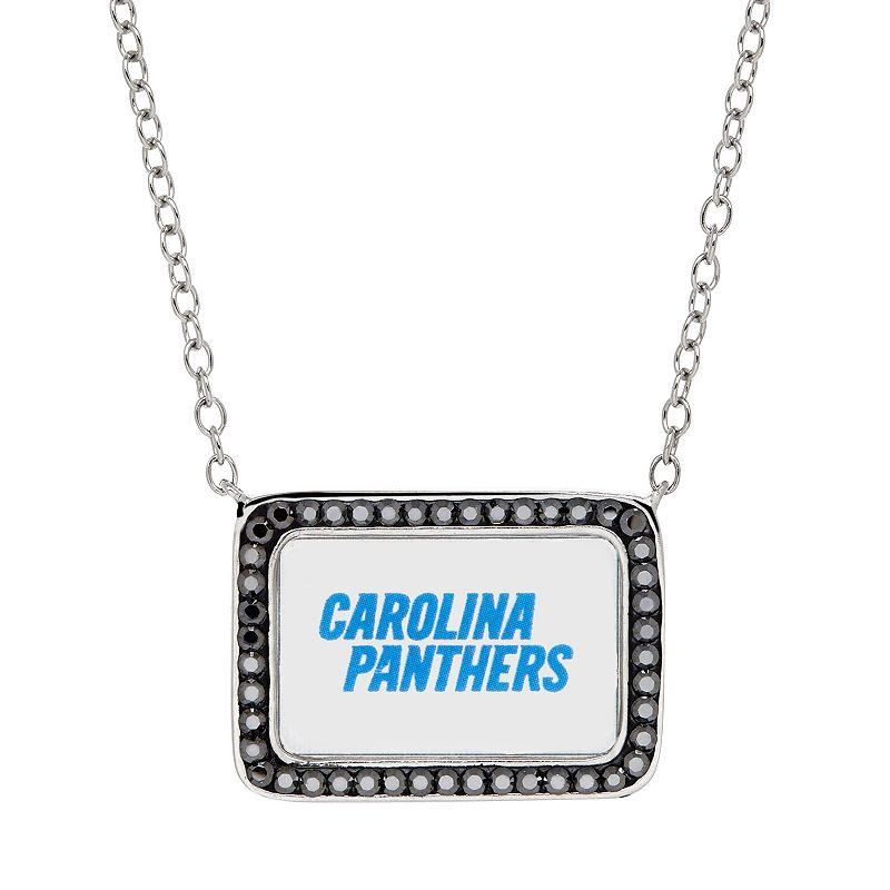 Carolina Panthers Bar Link Necklace - Made with Swarovski Crystals