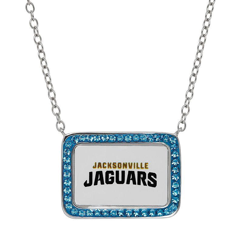 Jacksonville Jaguars Bar Link Necklace - Made with Swarovski Crystals