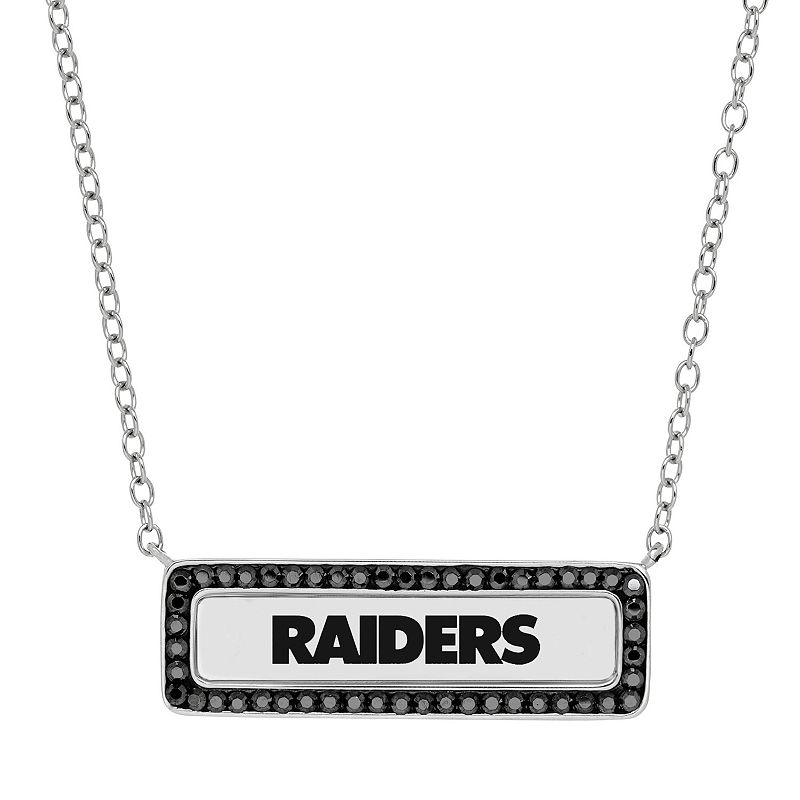 Oakland Raiders Bar Link Necklace - Made with Swarovski Crystals