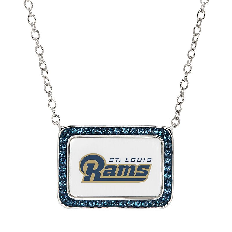 St. Louis Rams Bar Link Necklace - Made with Swarovski Crystals