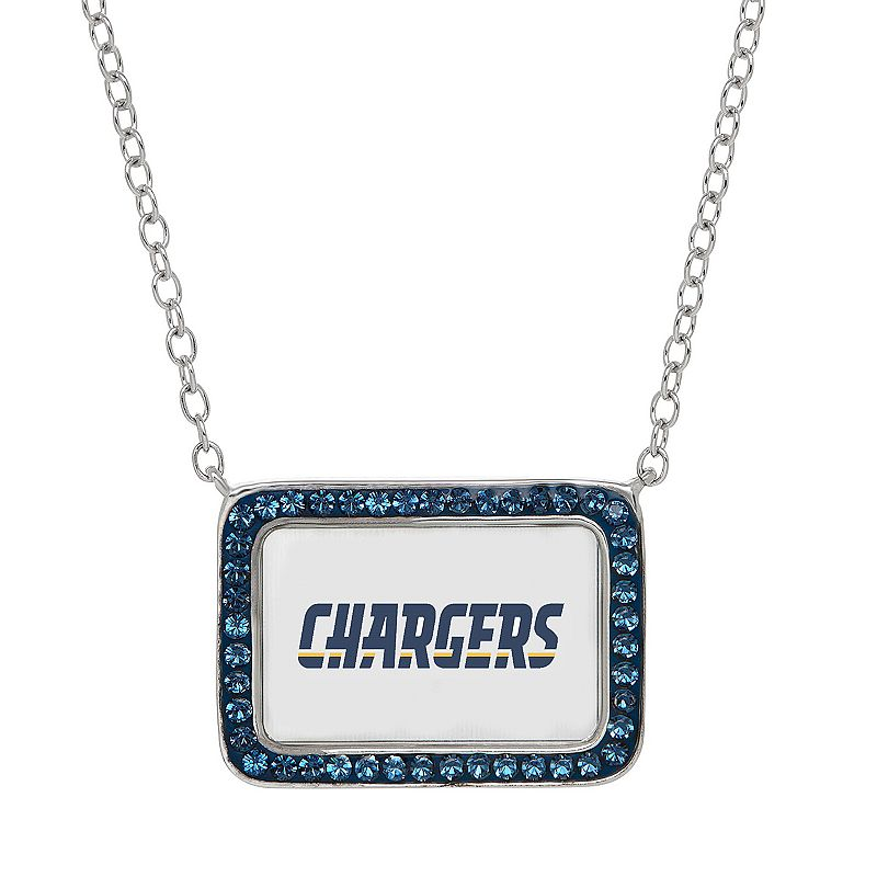 San Diego Chargers Bar Link Necklace - Made with Swarovski Crystals