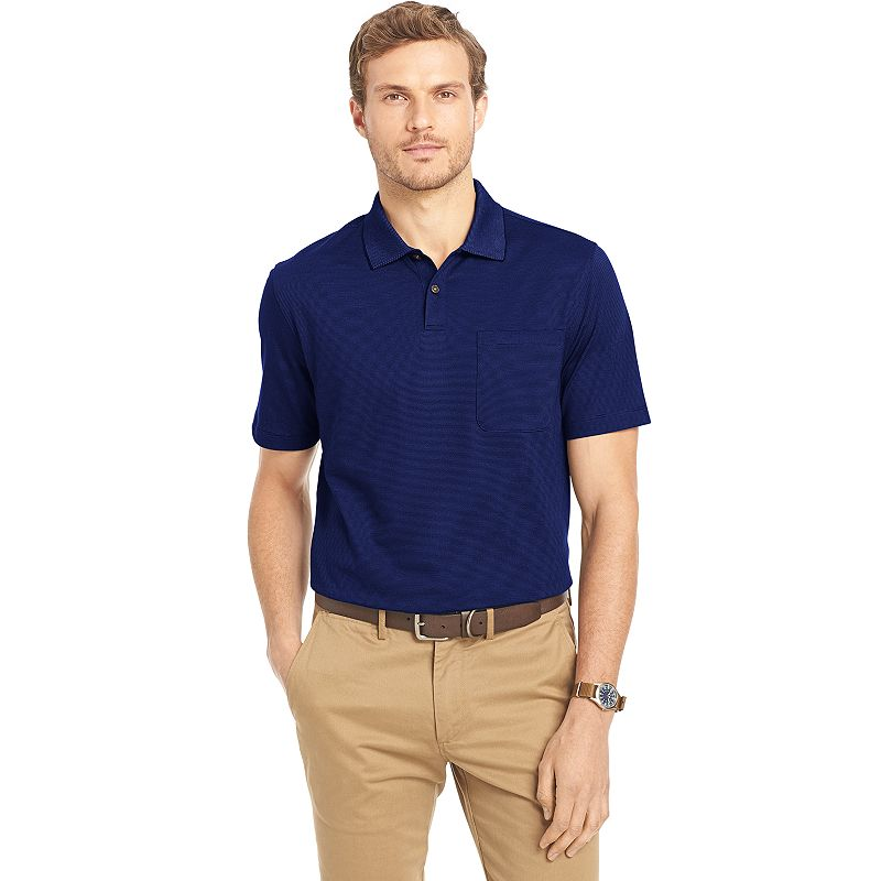 Men's Van Heusen Classic-Fit Feeder-Striped Polo