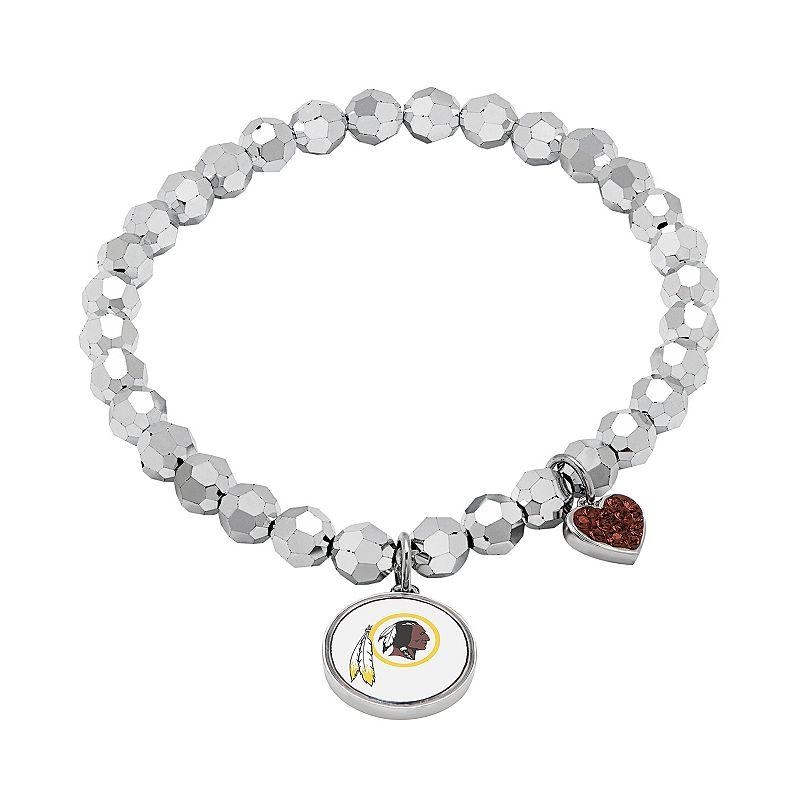 Washington Redskins Bead Stretch Bracelet