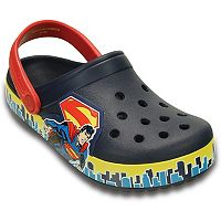 Crocs Crocband Superman Kids' Glow-In-The-Dark Clogs
